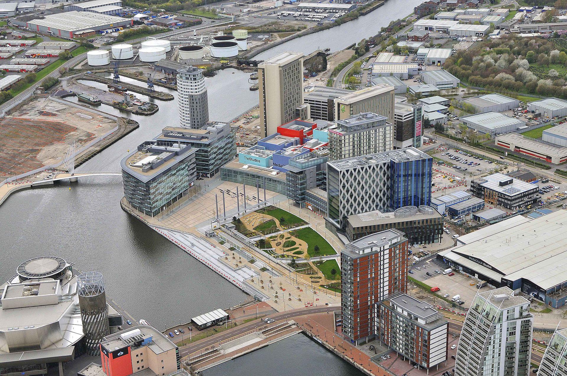 Aerial View MediaCityUK